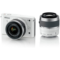Nikon 1 J1 Compact System Camera (10-30mm & 30-110mm Double Lens Kit Lens) Any Colour
