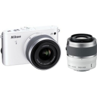 Nikon 1 J3 Compact System Camera With 10-30mm & 30-110mm Double Lens Kit ( Any Colour)