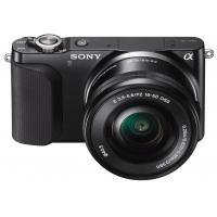 Sony NEX-3NL Interchangeable Lens Camera - Black (16-50mm Power Zoom Lens, 16.1MP)