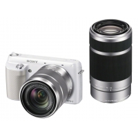Sony NEX-3F Interchangeable Lens Camera (18-55mm & 55-210mm telephoto zoom lenses)