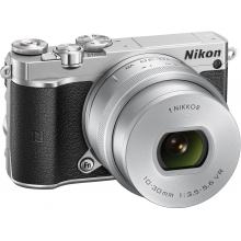 Nikon 1 J5 Compact System Camera with 10-30mm Lens Kit (Any Colour)