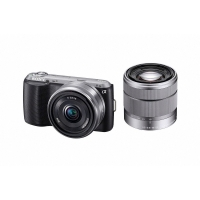 Sony NEX-C3DB Compact Digital Camera System - Black (16.2MP, With 18-55mm & 16mm F2.8 Wide Angle Lens)