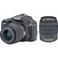 Pentax K-x Digital SLR Camera (Twin Lens Kit 18-55mm and 50-200mm)