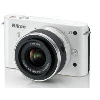 Nikon 1 J1 Compact System Camera - White (10-30mm Lens Kit, 10MP) Any Colour