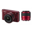 Nikon 1 J2 Compact System Camera with 10-30mm & 30-110mm Double Lens Kit ( Any Colour)
