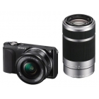 Sony NEX-3NY Interchangeable Lens Camera (16-50mm power zoom & 55-210mm telephoto zoom lenses)