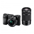 Sony ILCE6000YB A6000 Compact System Camera with SELP 16-50mm and SELP 55-210mm Lens Kit-Any Colour