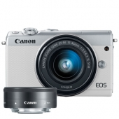 Canon EOS M100 with EF-M 15-45mm and EF-M 22mm Lenses- Any Colour
