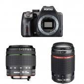 Pentax K-70 Digital SLR Camera with smc DA 18-55mm f/3.5-5.6 AL WR Zoom Lens and DA 55-300mm F4-5.8 ED WR Lens