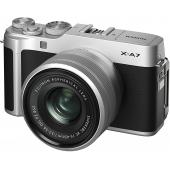 Fujifilm X-A7 Mirrorless Camera with Silver XC 15-45mm Lens