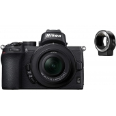 Nikon Z50 Compact System Camera with 16-50mm VR Lens & + Ftz Adapter Kit
